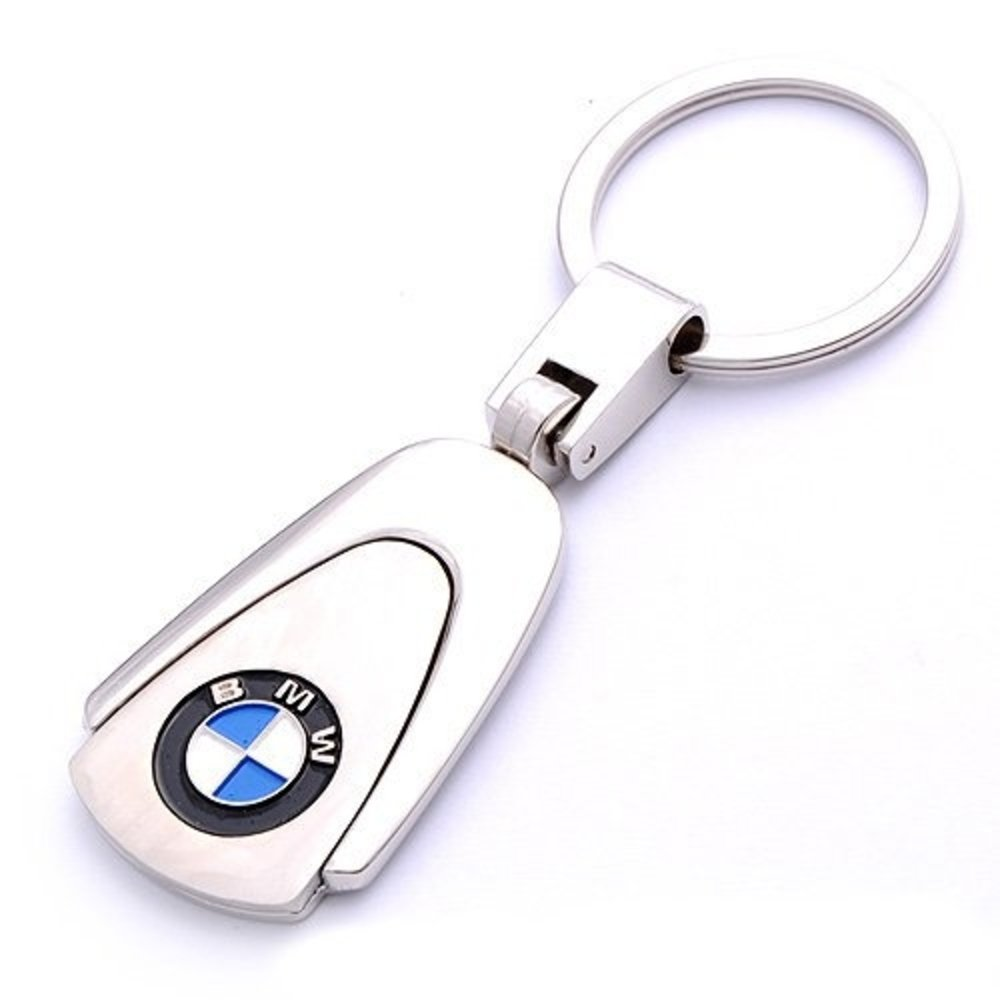 BMW Logo Chrome Keyring New
