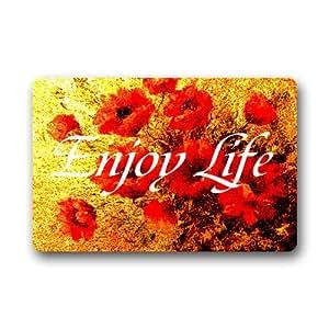 Generic disfrutar de la vida Felpudo (76,2cm por 45,7cm)
