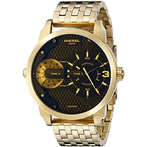 (Diesel Men's DZ7341 Mini Daddy Analog Display Analog Quartz Gold Watch )