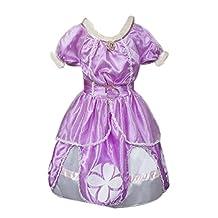 Eyekepper Sofia the First Dress Costume Princess Dress UP 3-7 Years