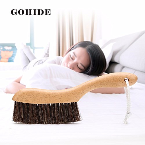 Gohide A Soft Cleaning Brush with Natural Solid Wood Handle and Natural Bristle Brush for Clothes Cleaning, Dust Hair, Sofa, Bed, Bedspread, Carpet Cleaning L:34.5cm, W:8.5cm, H:2.0cm (L) XCX by GOHIDE (Image #6)'