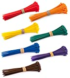Multi Colour 100x2.5mm, 4 Inch Cable Ties, 100 x (Red, Orange, Yellow, Green, Blue, Purple, Brown), Pack of 700