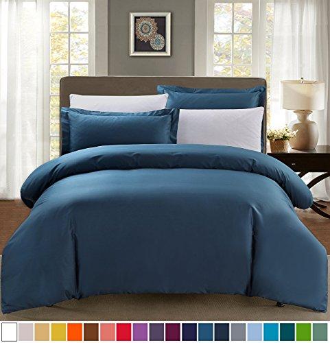 Fantastic Deal! SUSYBAO 100% Cotton 3 Pieces Duvet Cover Set King Size 1 Duvet Cover 2 Pillow Shams ...