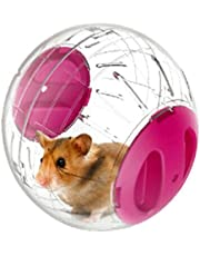 Small Pet Rolling Ball Toy Mini Exercise Running Ball for Dwarf Hamsters, 5.9 Inch (Pink)