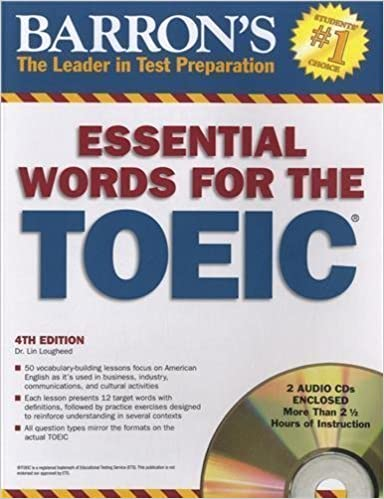 Essential Words for the TOEIC with Audio CDs (600 Essential Words for the Toeic Test) by Lougheed, Dr. Lin (2011)