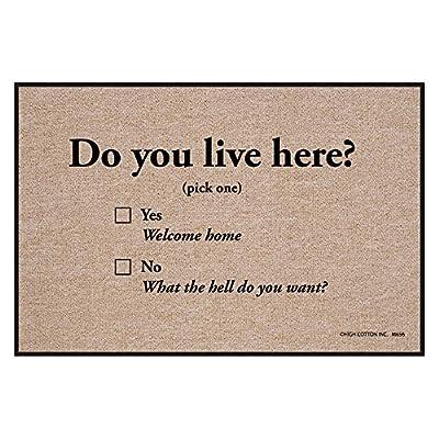 High Cotton Do You Live Here Indoor/Outdoor Doormat