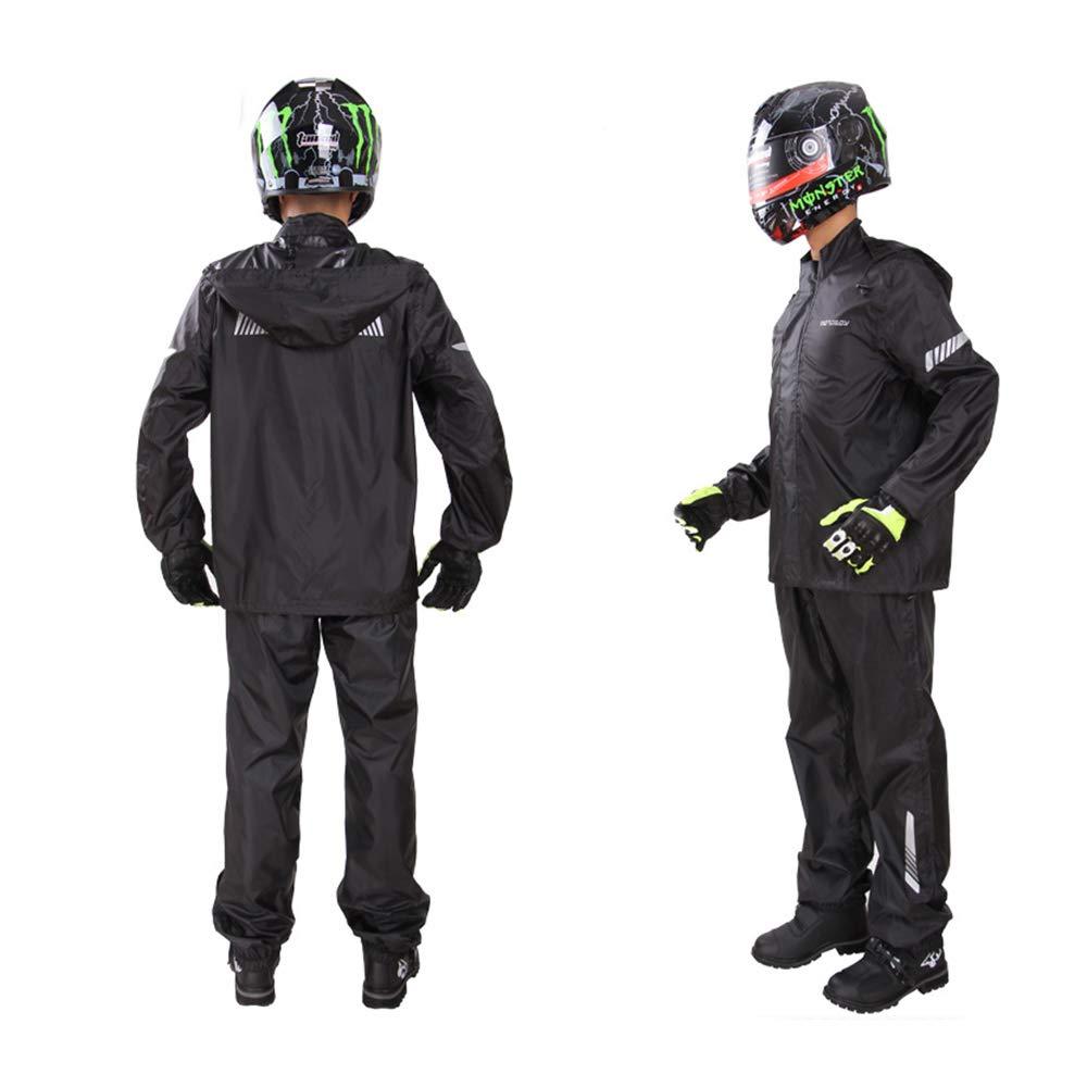noir X-grand Geyao Pantalon de Pluie imperméable Costume Adulte Split imperméable imperméable Moto électrique imperméable Moto Hommes et Femmes en Plein air (Couleur   jaune, Taille   XL)