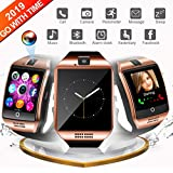 Smart Watch for Android, WATCHOO Touchscreen Bluetooth Smartwatch with Camera Unlocked Smart Watch with Sim Card Slot, Smartwatch Phone Compatible for iPhone iOS Samsung Men Women Kids, Gold
