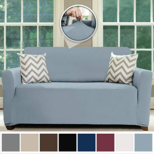 Sofa Shield Original Fitted 1 Piece Loveseat Slipcover, Soft, Stretch, Seat Width Up to 54