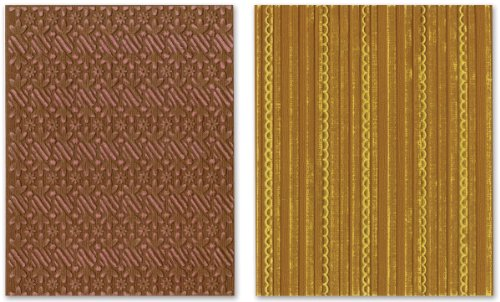 Sizzix Textured Impressions Embossing Folders 2PK - Peppermint Twists & Scallops Set by BasicGrey