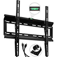 TV Wall Mount Bracket for 20 - 47 Plasma, LED, LCD TV. 15 Degree Downward Tilt, Support 120 lbs - 400x400 mm VESA Compliant, 10 ft HDMI Cable - ²TOCMZ
