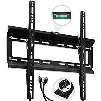 TV Wall Mount Bracket for 20 - 47 Plasma, LED, LCD TV. 15 Degree Downward Tilt, Support 120 lbs - 400x400 mm VESA Compliant, 10 ft HDMI Cable - ²TOCMZ