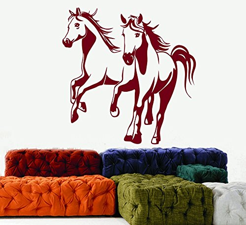 DreamKraft Horses Wall Decor Art Stickers Vinyl Decals Home Decor for Living Room & Kids Bedroom (25X26 inch)
