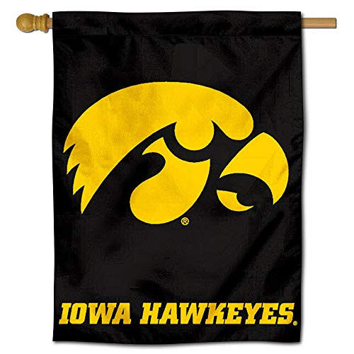 Iowa Colleges University - College Flags and Banners Co. University of Iowa Hawkeyes House Flag