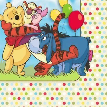 (Winnie the Pooh and Pals 1st Birthday Small Napkins (16ct))