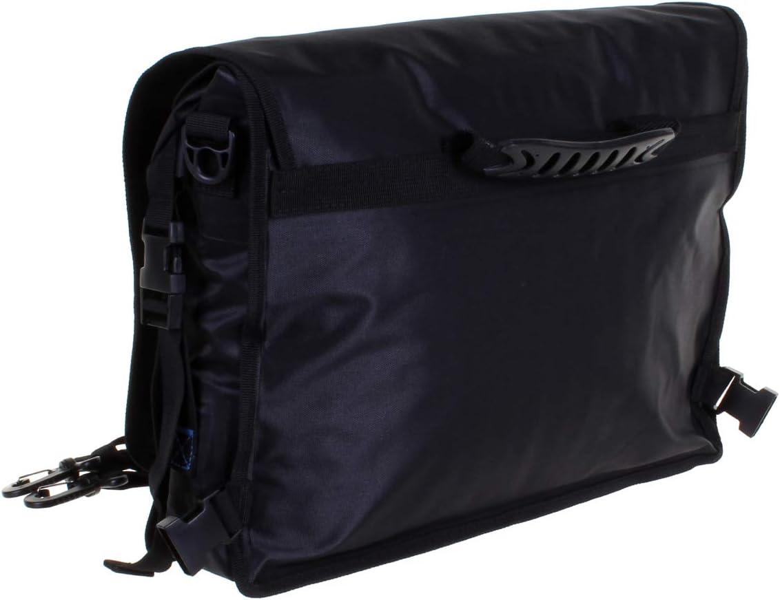 Overboard Waterproof Roll-Top Messenger Bag, Black
