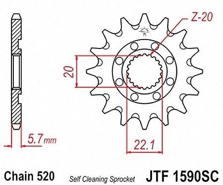 JT Sprockets JTF1590.13SC 13T Steel Front Sprocket