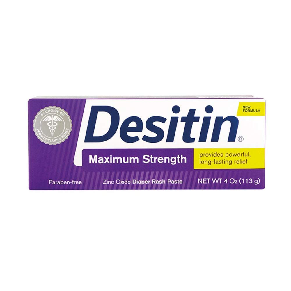 Desitin Maximum Strength Original Diaper Rash Paste, 4 oz (Pack of 3) by Desitin