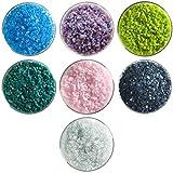 Summer Rain Designer Coarse Frit Collection - 7 Colors, 90 COE - Bullseye Glass Fusible Glass Sampler Pack