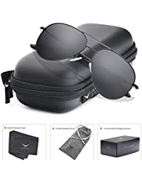 LUENX Aviator Sunglasses Polarized for Men Women with Sun...