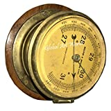 Global Art World Antique Old Brass English Made Ships Marine Nautical Collectible London & Glasscow Aneroid Weather inches M Bars Barometer AWUSAHB 0264