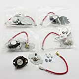 10 Pack Dryer Thermostat and Thermal Fuse Kits 279816 Whirlpool Kenmore Roper