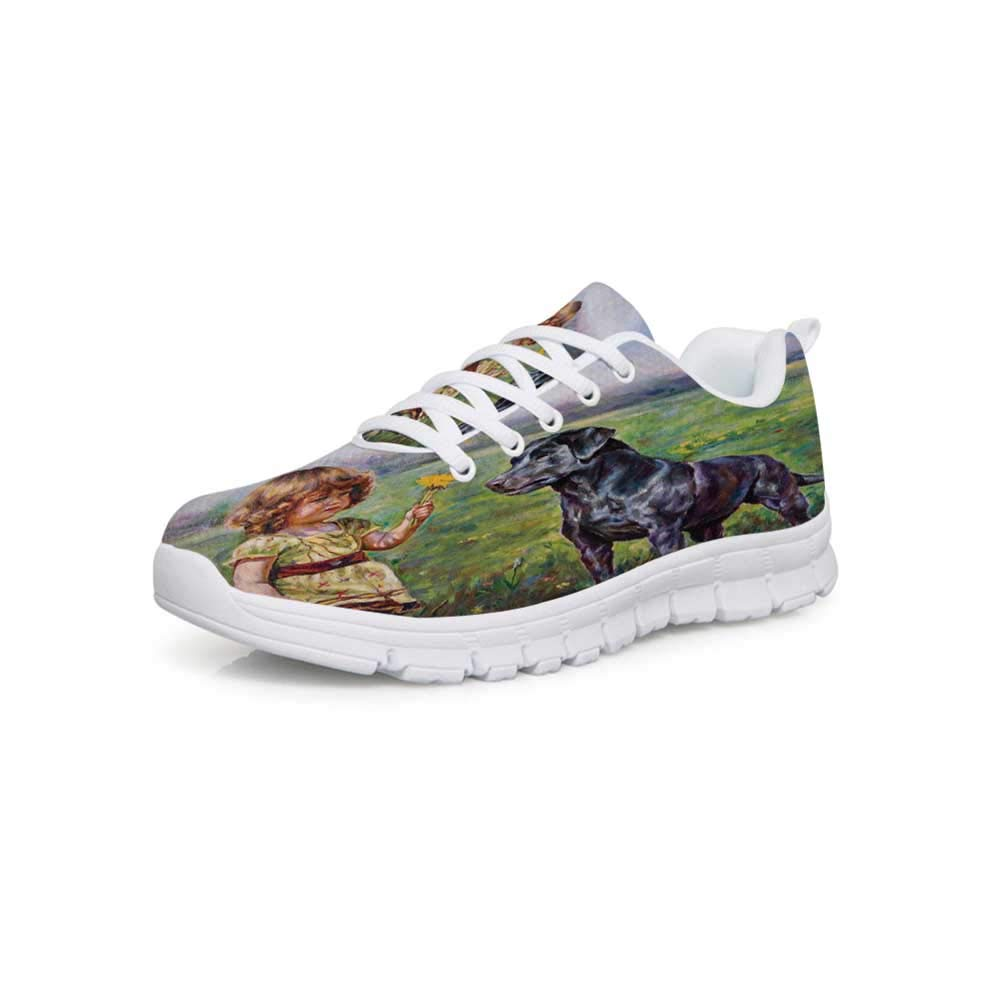 YOLIYANA Country Decor Lightweight Walking ShoesGarden in Keukenhof Colorful Tulip Flowers and Trees Foliage Spring in Netherlands Sneakers for Girls Womens,US 5