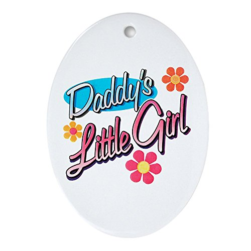 Ornament (Oval) Daddy's Little Girl Flowers Daughter