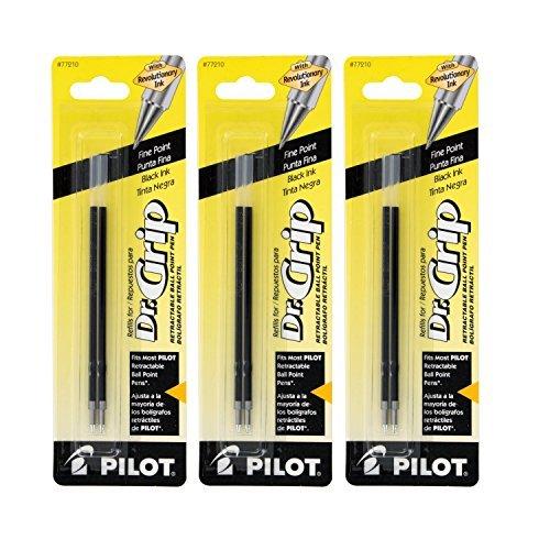 Pilot Better/EasyTouch/Dr Grip Retractable Ballpoint Pen Refills, 0.7mm, Fine Point, Black Ink, Pack of ()