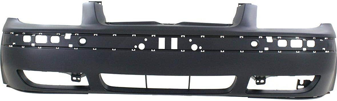 Front Bumper Cover Compatible with 1999-2005 Volkswagen Jetta Primed with Built-in Molding Sedan//Wagon 4th Gen