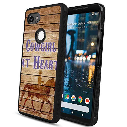 Cowgirl at Heart Case TPU+PC Fits for Google Pixel 2 XL (2017) [6in]