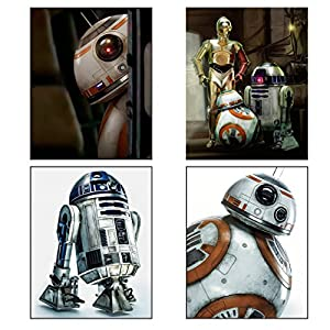 BigWig Prints Star Wars Episode VII (7) The Force Awakens Droids 4 Pack of (8 inches x 10 inches) Photos Featuring Characters BB8, R2D2 and C3PO.