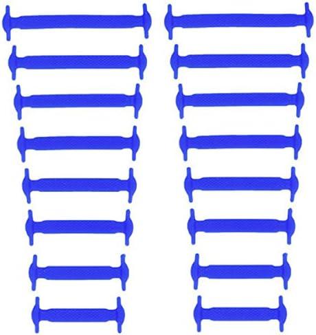 結ばない靴紐 シリコン素材 男女兼用 高い伸縮性 簡単に着脱が出来る! ブルー AP-TH218-BL