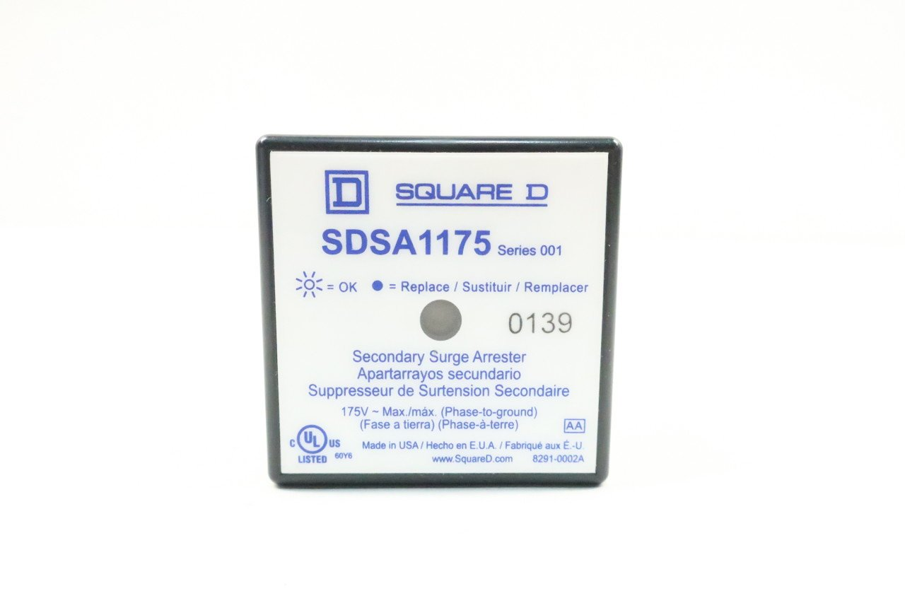SQUARE D SDSA1175 SECONDARY SURGE ARRESTER 175V-AC D617196
