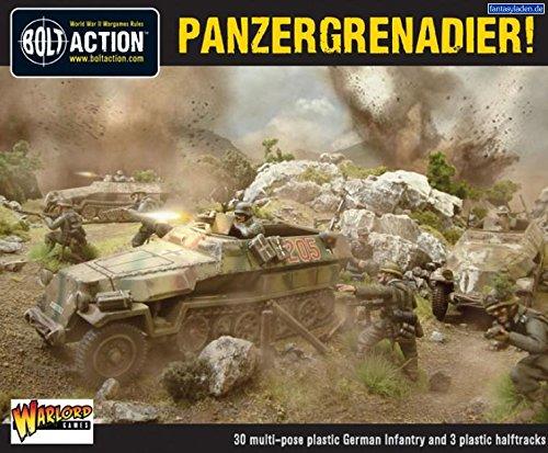 Warlord Games Bolt Action Panzergrenadier German Army Halftracks & Infantry