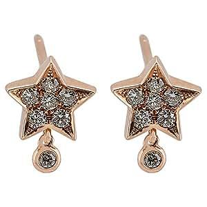 365LOVE Women's 18K White Gold Earrings