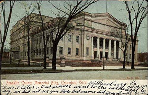 - Franklin County Memorial Building Columbus, Ohio Original Vintage Postcard