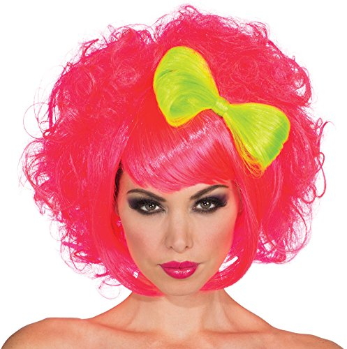 - Rubie's Bow Cutie Doll Wig, Neon Pink/Green, One Size
