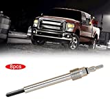 Baynne 8pcs/Set Glow Plugs Heater for Ford F250 F350 Super Duty for Diesel 6.0L(Color silver)