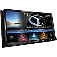 Kenwood DNX773S In-Dash 2-DIN 6.95 Touchscreen DVD Receiver with Navigation System, Built-in HD Radio, Apple Carplay, and Android Auto Compatible