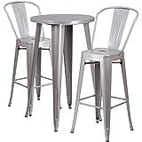 Flash Furniture 24'' Round Silver Metal