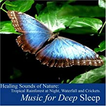 Healing Sounds of Nature: Tropical Rainforest At Night, Waterfall and Crickets by Music for Deep Sleep