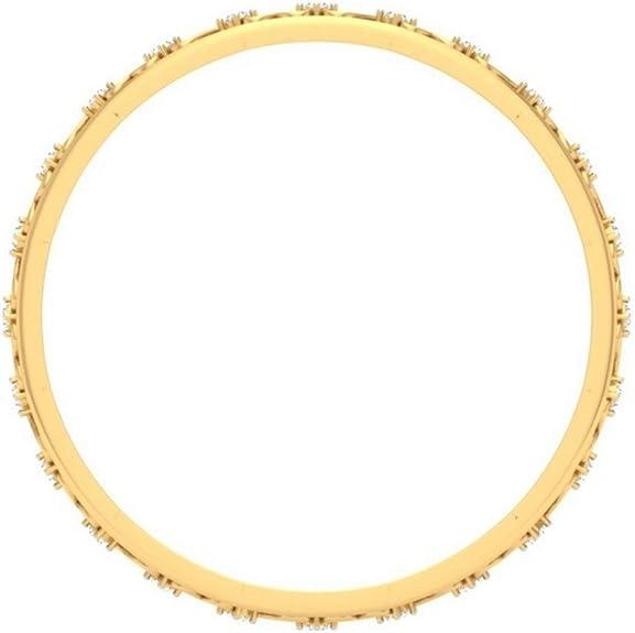 identification-bracelets Size 0.392 cttw Round-Cut-Diamond 18K Yellow Gold IJ| SI 6.5 inches