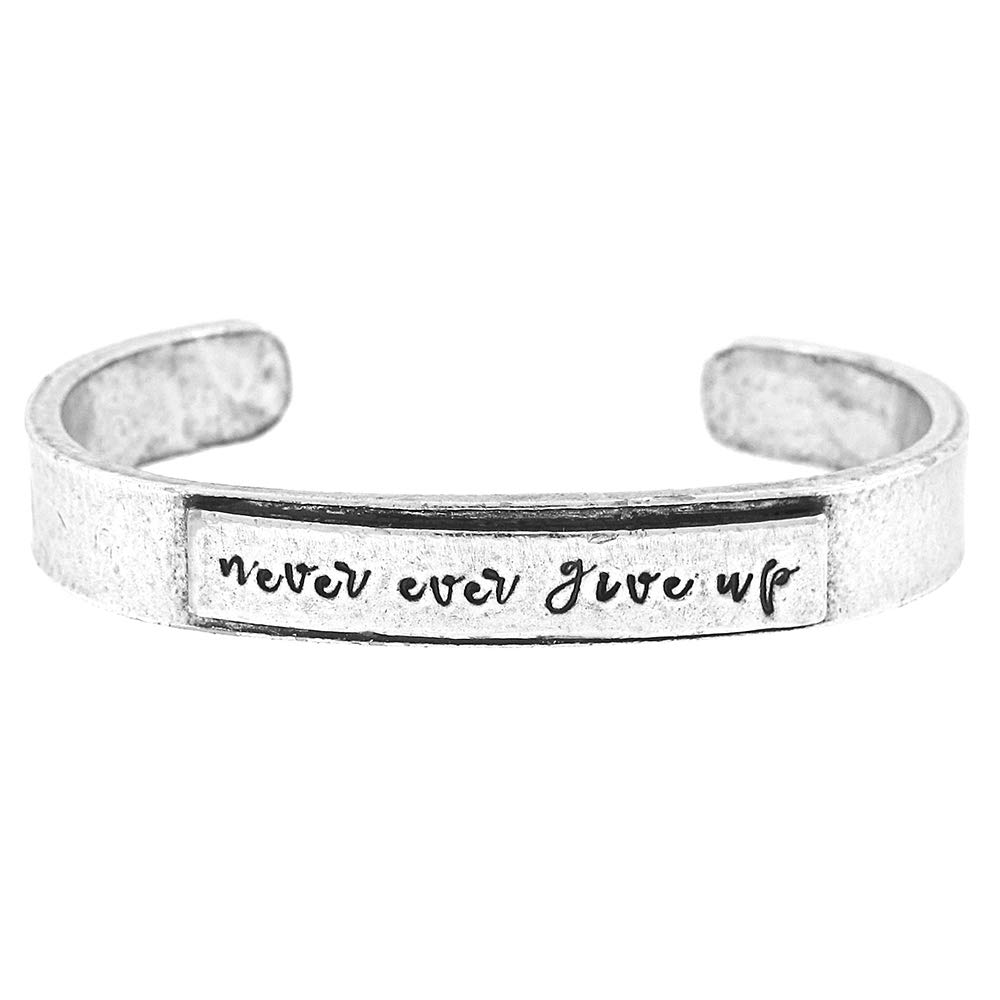 Alisa Michelle Designs Never Ever Give Up Cuff