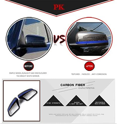 Replacement Style, Carbon Fiber MCARCAR KIT Mirror Cover fits Mercedes Benz W176 W246 W204 C204 W212 W221 W117//C117 W218 X156 X204 Carbon Fiber CF Rearview Side Mirror Caps Outside Shell