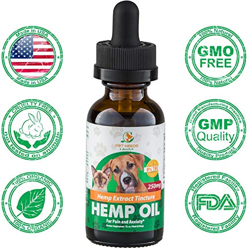 Bella's Gift Hemp Oil Extract for Dogs and Cats - Organic Pet Hemp Tincture Grown and Made in USA - Supports Hip & Joint Health - Natural Relief for Pain Seizures & Separation Anxiety - 0% THC