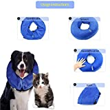 Surfei Protective Inflatable Dog Collar, Soft and Adjustable Recovery collar for Postoperative Wound Healing, Perfect to Prevent Pets from Touching Wounds Not Block Vision (Medium)