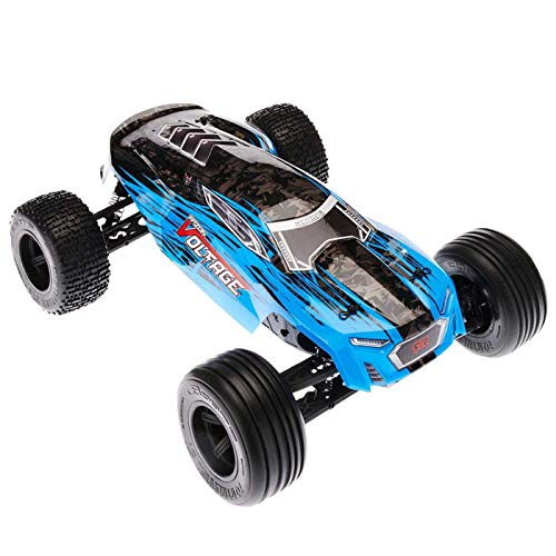 ARRMA FAZON VOLTAGE MEGA 2WD SRS RC Monster Truck RTR with 2.4GHz Radio | 2 x Li-Ion Battery | Charger | 1:10 Scale (Blue/Black)