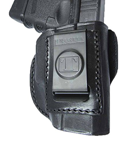 Tagua Gunleather 4-in-1 Inside The Pants Holster fits Glock 26/27, Right  Hand, Black