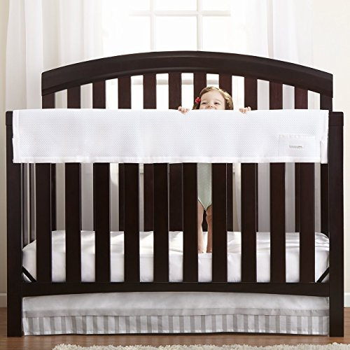 BreathableBaby Railguard Crib Rail Cover, White • Baby